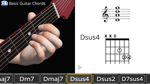 Guitar 3D - Basic Chords  screenshots 1