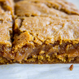 Fudgy Pumpkin Caramel Swirl Bars