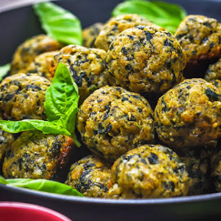 Pesto Parmesan Spinach Balls.