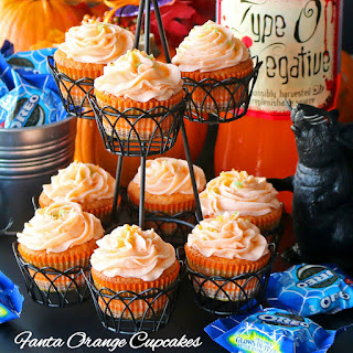 Fanta Orange Cupcakes with Pop Rocks