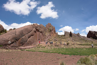 "Photo: Amaru Muru, the ""stargate"". The natural red sandstone layer are perfect vertical in this mountain range."