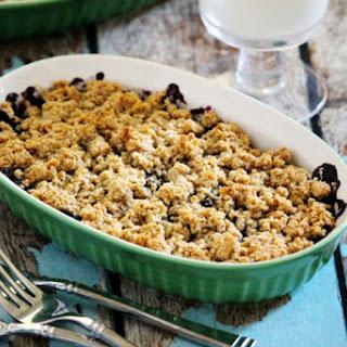 Gluten-Free Vegan Blueberry and Chia Seed Cobbler (Vegan, Gluten-Free, Grain-Free, Flourless, Dairy-Free, Egg-Free, Paleo-Friendly, No Refined Sugar).