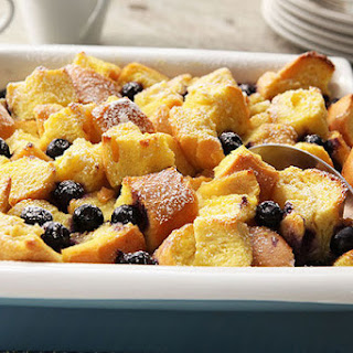 Blueberry-Lemon Bread Pudding.
