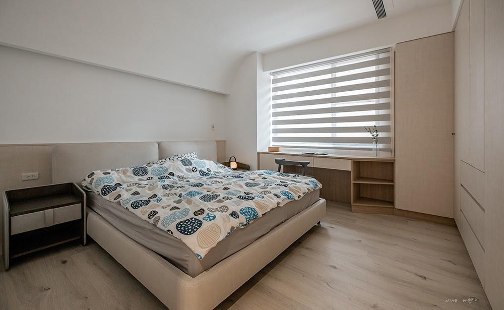 窗簾設計 間接照明 床頭設計 風水 百葉窗簾 蜂巢簾