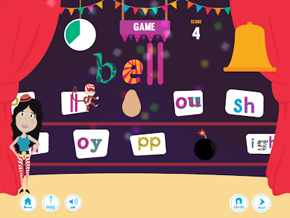 Phonics Under the Big Top: Adv- screenshot thumbnail