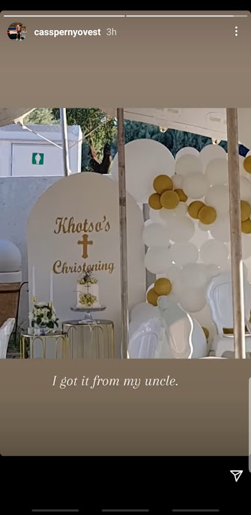 Cassper and his missus threw a baby baptism for their little one.