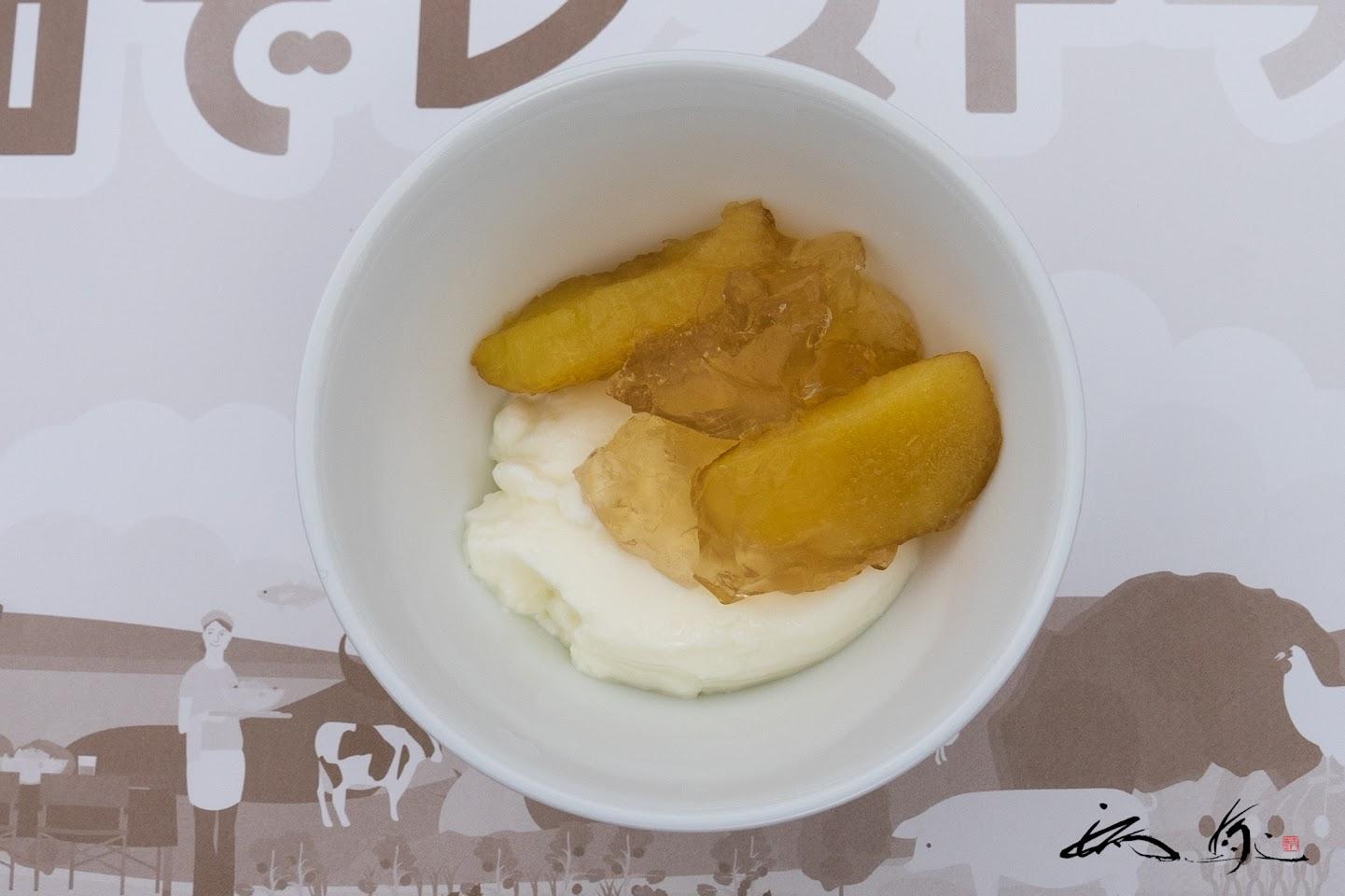 パンナコッタ&プルーン果実入り白ワインジュレ
