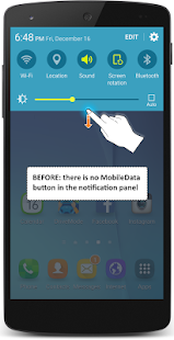 Install the MobileData button- screenshot thumbnail