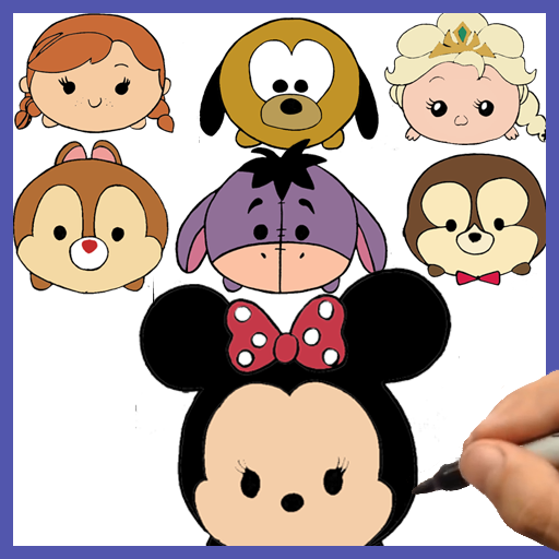 How to draw Disney Tsum Tsum