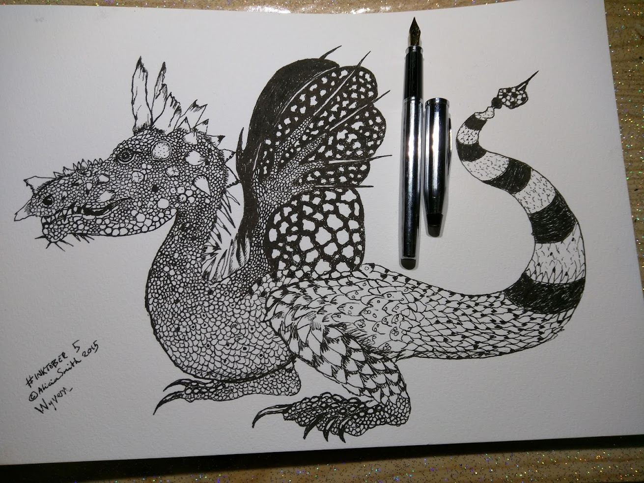 Black and white Wyvern