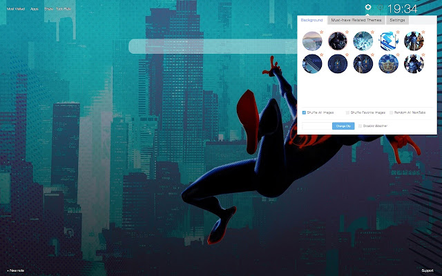 Spider-Man: Into the Spider-Verse New Tab