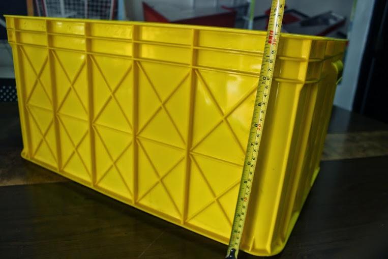 JUAL KERANJANG KONTAINER PLASTIK POLOS TIPE 2227 P | Green Leaf | www.rajarakminimarket.com | RAJA RAK INDONESIA