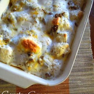 Country Gravy Breakfast Casserole.