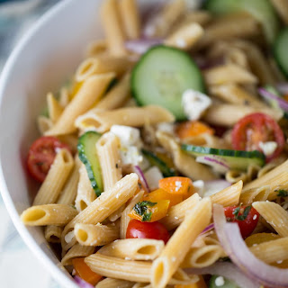 15 Minute Easy Greek Pasta Salad