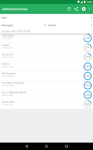 Screenshot for BetterBatteryStats in United States Play Store