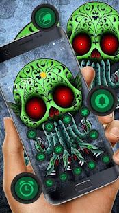 Green Zonbie Snake Skull  Theme