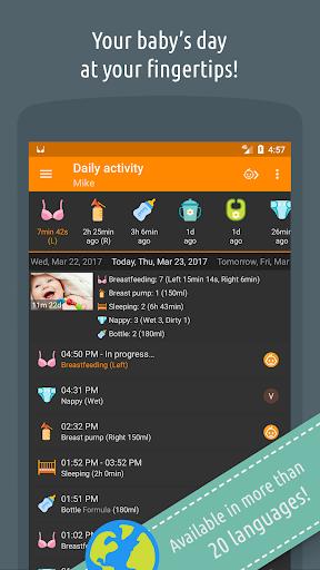 Baby Daybook - Breastfeeding & Care Tracker Screenshot