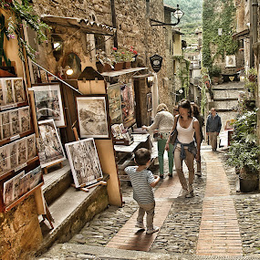 Dolceacqua street by Roberta Sala - City,  Street & Park  Street Scenes ( dolceacqua, street, street scene, italy, street photography )