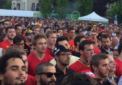 ? Revivez le match Belgique-Japon depuis la place Wiener à Bruxelles