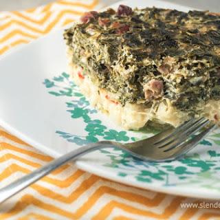 Sunday Slow Cooker: Breakfast Hashbrown Spinach & Ham Casserole.