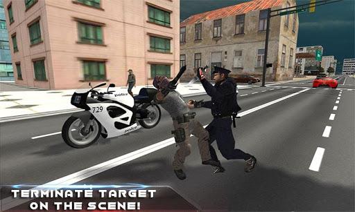 警察の追跡モバイル隊