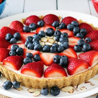 No Bake Berry Almond Tart