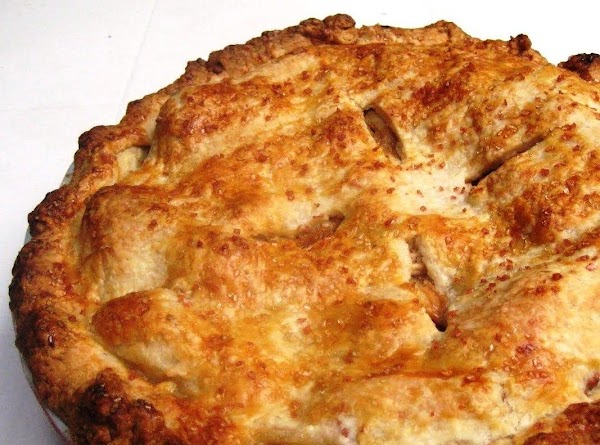Bake the pie for 30 minutes at 400, then lower the temperature to 375...