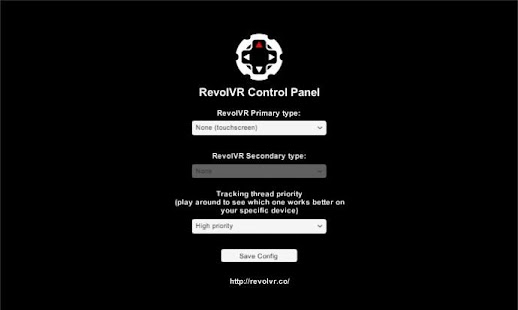 RevolVR Control Panel- screenshot thumbnail