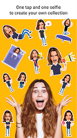 screenshot of Emolfi: power up any messenger with photo stickers