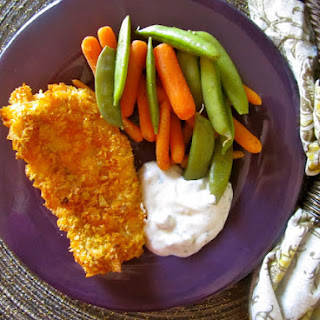 Salt & Vinegar Crispy Baked Fish {with Lemon Dill Sauce}