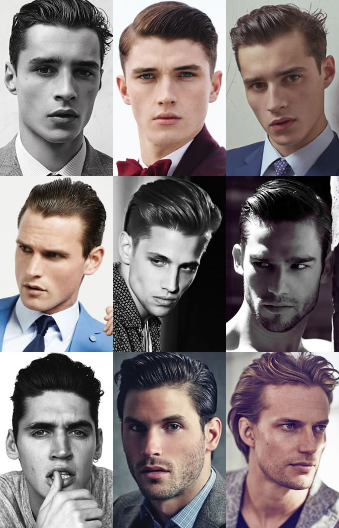 Men's Slick and High Shine Hairstyles