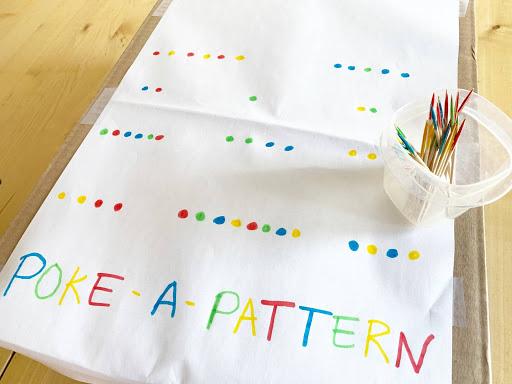 Easy Poke a Pattern Activity for Preschoolers