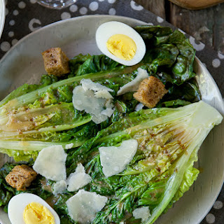 Caesar Salad with Grilled Romaine.