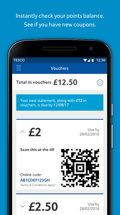 Tesco Clubcard: Spend Vouchers and Collect Points- screenshot