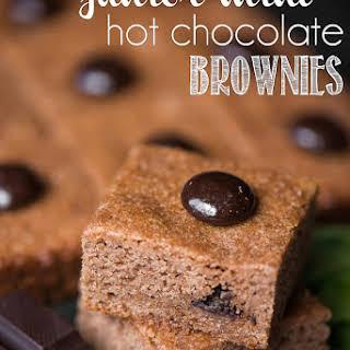 Junior Mint Hot Chocolate Brownies.