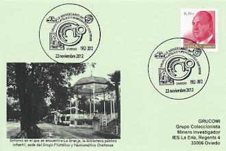 Photo: Matasellos del 60 aniversario del Grupo filatélico y numismático de Oviedo