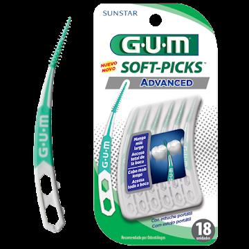Cepillo Interdental Gum   Sunstar Advanced + Estuche Portatil X 18Unidad