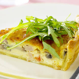 Bacon and Mushroom Quiche.