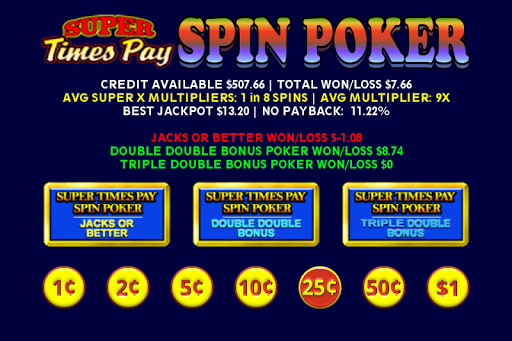 Super Times Pay Spin Poker - FREE 1.2.4 screenshots 4