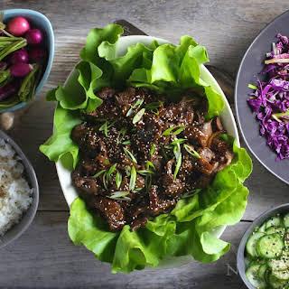 Bulgogi (Korean Grilled Beef) Lettuce Wraps.