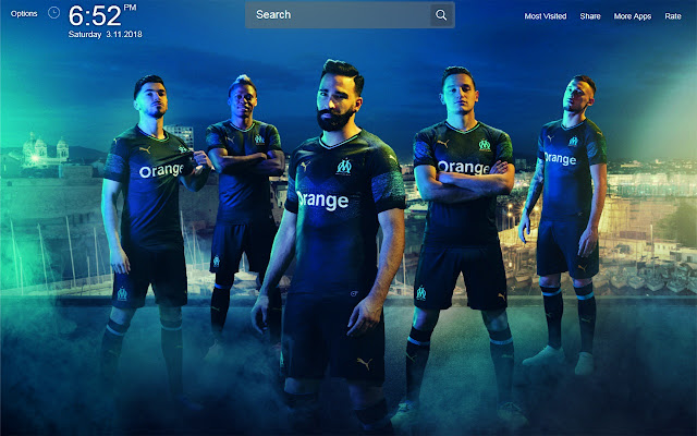 F.C Marseille Wallpapers Theme New Tab