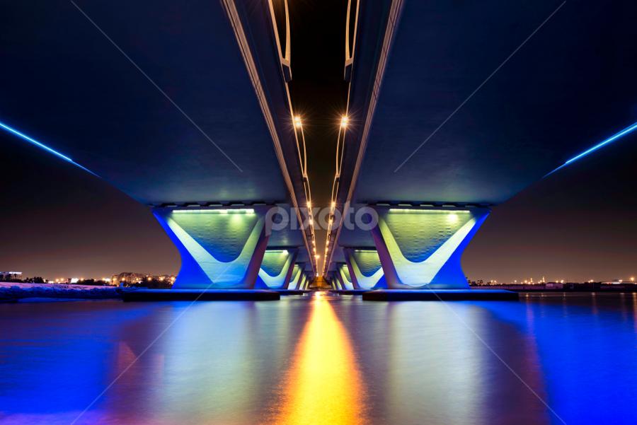 Simplicity  by Salah El-Deen - Buildings & Architecture Bridges & Suspended Structures ( dubai, d800, uae, bridge, nikon, photography )