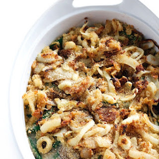 Healthy Green Bean Casserole with Cauliflower Sauce