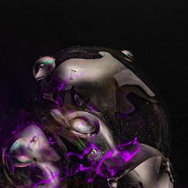 secret of the ooze by Duane Vosika - Abstract Light Painting ( nikon, omaha, reflections, light trails, purple, nebraska, dslr, long exposure, rear curtain flash, slow shutter, flash, d5600 )
