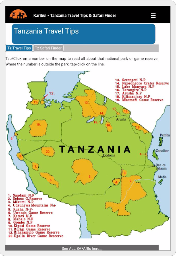 Tanzania Travel Tips- screenshot