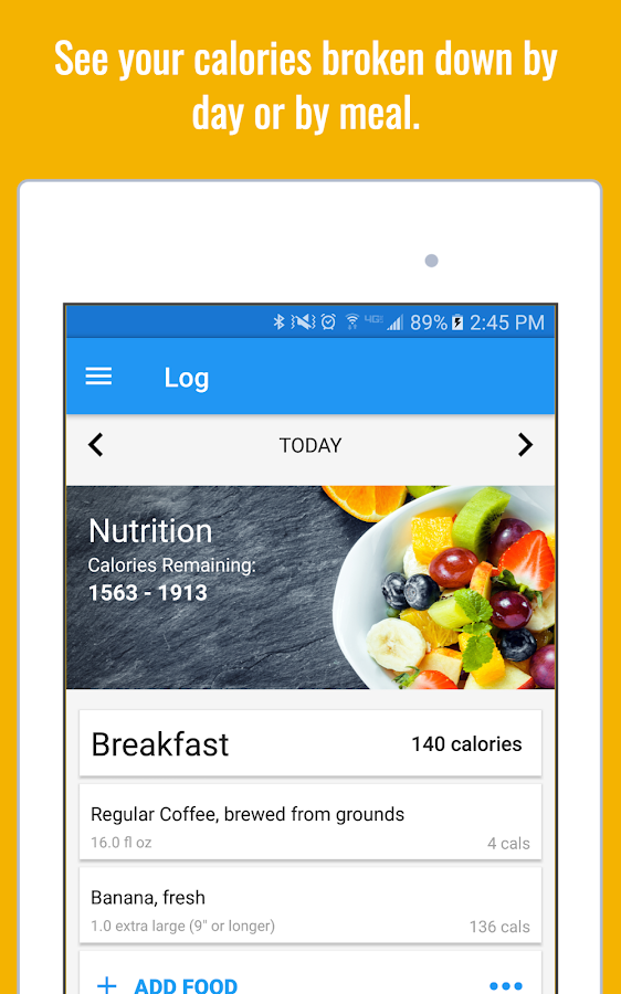Calorie Counter & Diet Tracker- screenshot