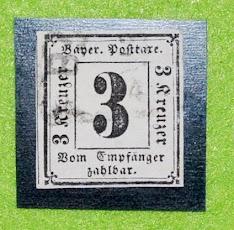 Bayerische Posttaxe - 3 Kreuzer - 1862