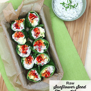 "Raw Sunflower Seed ""Tuna"" Wraps."