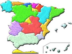 Photo: Mapa mudo de autonomías (color)