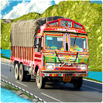 Indian Truck Cargo Duty Driver Icon
